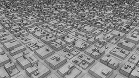 Città futuristica urbana dell'animazione della struttura stock footage