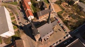 Città Germania di vista aerea di Zwickau vecchia fotografia stock libera da diritti