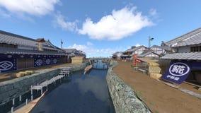 Città giapponese del castello royalty illustrazione gratis