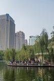 Città giardino all'aperto del tè Immagine Stock