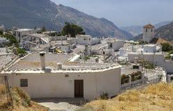 Città graziosa calma di Capileira da sopra Alpujarras Immagini Stock