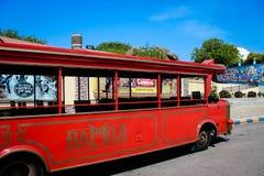 Città Haidarabad del film di Ramoji della baia del bus fotografie stock