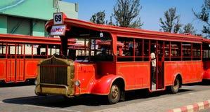 Città Haidarabad del film di Ramoji della baia del bus immagini stock libere da diritti