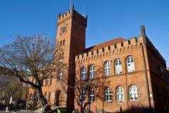 Città Hall Building Szczecinek - in Polonia Immagini Stock Libere da Diritti