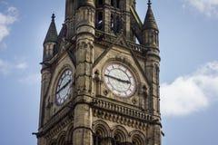 Città Hall Clock Regno Unito di Manchester Fotografia Stock Libera da Diritti