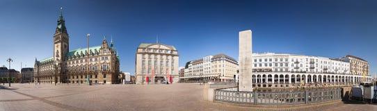 Città Hall Panorama di Amburgo Immagine Stock Libera da Diritti