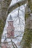 Città Hall Snowing di Helsingborg Immagini Stock Libere da Diritti