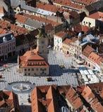 Città Hall Square in Brasov Fotografia Stock Libera da Diritti