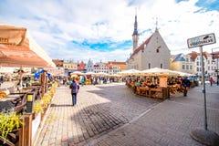 Città Hall Square a Tallinn fotografia stock libera da diritti