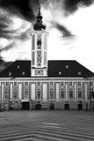 Città Hall St Pölten come immagine in bianco e nero Immagine Stock Libera da Diritti
