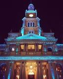 Città Hall Sydney di notte Fotografia Stock Libera da Diritti