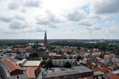 Città Hanseatic di Lübeck, Germania Immagini Stock Libere da Diritti