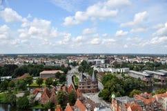 Città Hanseatic di Lübeck, Germania Fotografia Stock