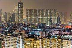 Città in Hong Kong Fotografia Stock Libera da Diritti