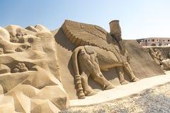 Città Hurghada della sabbia fotografie stock