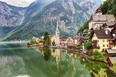 Città iconica di Hallstatt Austria Immagine Stock