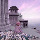 Città indiana di mattina Immagini Stock