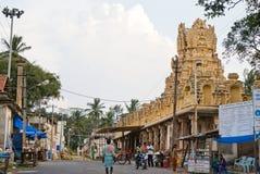 Città indiana - scena della via principale Immagine Stock Libera da Diritti
