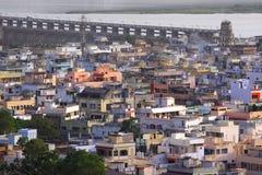 Città indiana Vijayawada Fotografie Stock Libere da Diritti