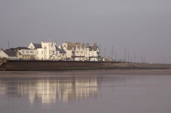Città inglese della spiaggia immagini stock