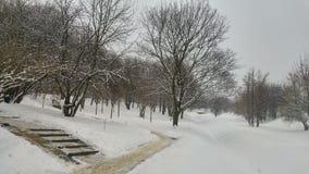 Città in inverno Fotografia Stock