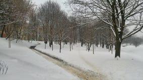 Città in inverno Fotografia Stock Libera da Diritti