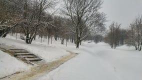 Città in inverno Fotografie Stock Libere da Diritti