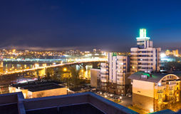 Città Irkutsk alla notte Fotografia Stock Libera da Diritti