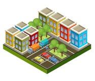 Città isometrica Immagine Stock Libera da Diritti