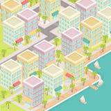 Città isometrica Fotografia Stock Libera da Diritti