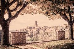 Città italiana d'annata Pitigliano immagini stock libere da diritti