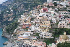 Città italiana di Positano nella regione di Amalfi Fotografia Stock
