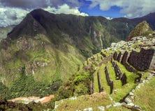 Città Machu Picchu (Perù) di inca immagini stock libere da diritti