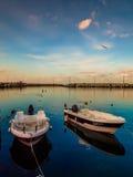 Città Marina And Seaport Sunset di Yalova Immagine Stock