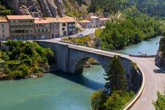 Città medievale affascinante di Sisteron nella provincia Alpes-de-Haute-p Immagini Stock
