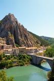 Città medievale affascinante di Sisteron nella provincia Alpes-de-Haute-p Fotografia Stock Libera da Diritti