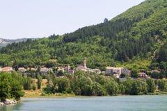 Città medievale affascinante di Sisteron nella provincia Alpes-de-Haute-p Immagini Stock Libere da Diritti