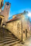 Città medievale in Croazia, Omis Fotografia Stock Libera da Diritti