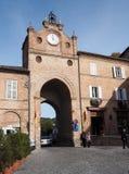 Città medievale di Amandola in Italia Fotografia Stock Libera da Diritti