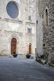 Città medievale di Bevagna in Italia centrale immagini stock libere da diritti