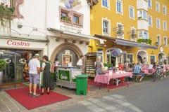 Città medievale di Kitzbuhel, Tirolo Fotografia Stock