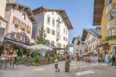 Città medievale di Kitzbuhel, Tirolo Fotografia Stock Libera da Diritti