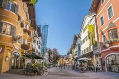 Città medievale di Kitzbuhel, Tirolo Fotografie Stock