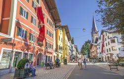 Città medievale di Kitzbuhel, Tirolo Immagine Stock Libera da Diritti