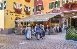 Città medievale di Kitzbuhel, Tirolo Immagine Stock