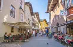 Città medievale di Kitzbuhel, Tirolo Immagini Stock Libere da Diritti