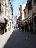 Città medievale di Loreto in Italia centrale immagini stock libere da diritti