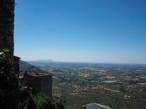 Città medievale di Norma in Italia Fotografia Stock