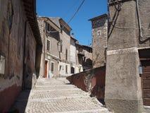 Città medievale di Norma in Italia Immagini Stock