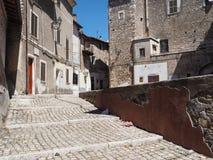 Città medievale di Norma in Italia Immagini Stock Libere da Diritti